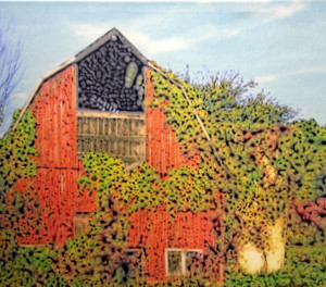 Red Barn Canvas 20x16