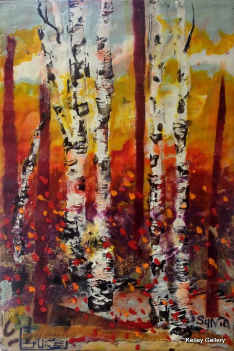 Birch of Red Trees 8x12