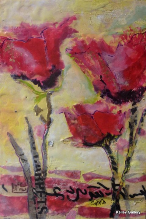 Red Flowers 8x12
