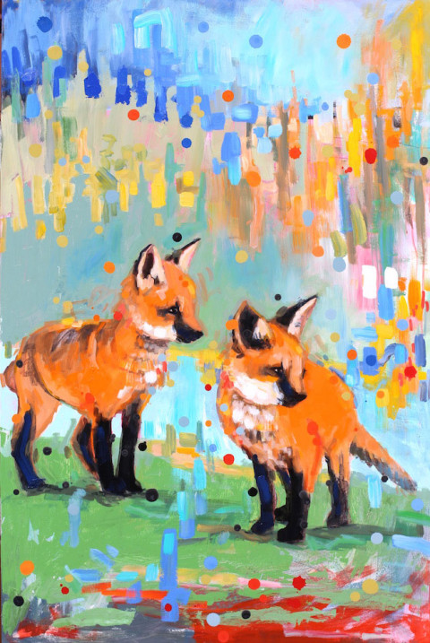 They Stumbled Along Side by Side by Adam Swanson, 32x48 Acrylic