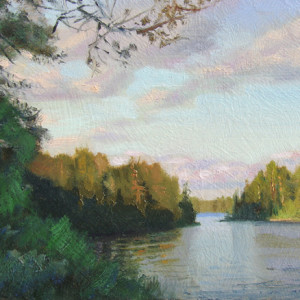 Canoe Country by Scott Lloyd Anderson, 8x6 Oil