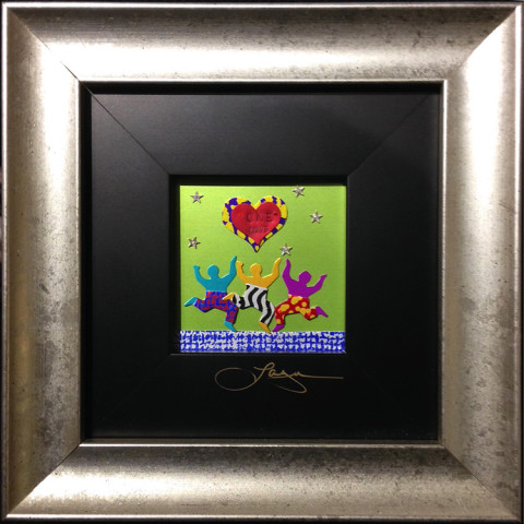One Love by Barbara Lager, 3x3 Metalscape at Kelley Gallery Art & Frame in Woodbury, MN