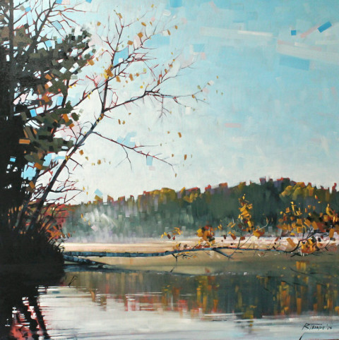 Early Morning View Reflection by Reid Thorpe, 36x36 Oil