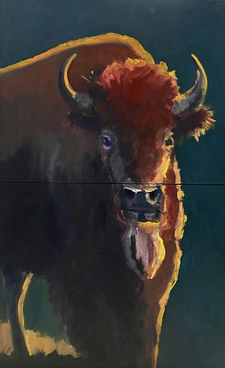 Stare Down by Stephen Wysocki, 30x48-Oil