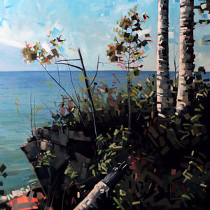 Lake Superior Birch View by Reid Thorpe, 48x48-Oil