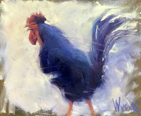 Early Morning Rooster by Stephen Wysocki, 24 x 20, Oil