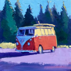 North Shore Hippies by Stephen Wysocki, 20x20, Oil
