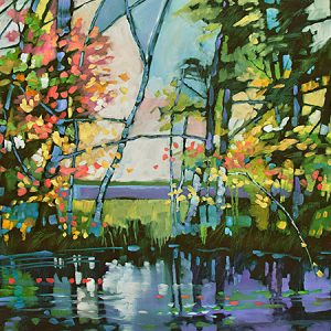 Spring Banks by Judy Munro, 40x30, Oil on Board